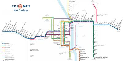 Portland Max light rail mapa