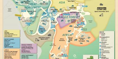 Mapa de Oregon Zoo